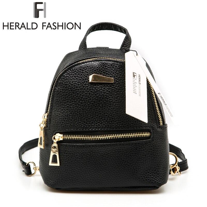 Herald Fashion Small Rucksack Women Ping Purse Las Joker Bookbag Travel Bag Student School Backpacks Mini Backpack In From Luggage