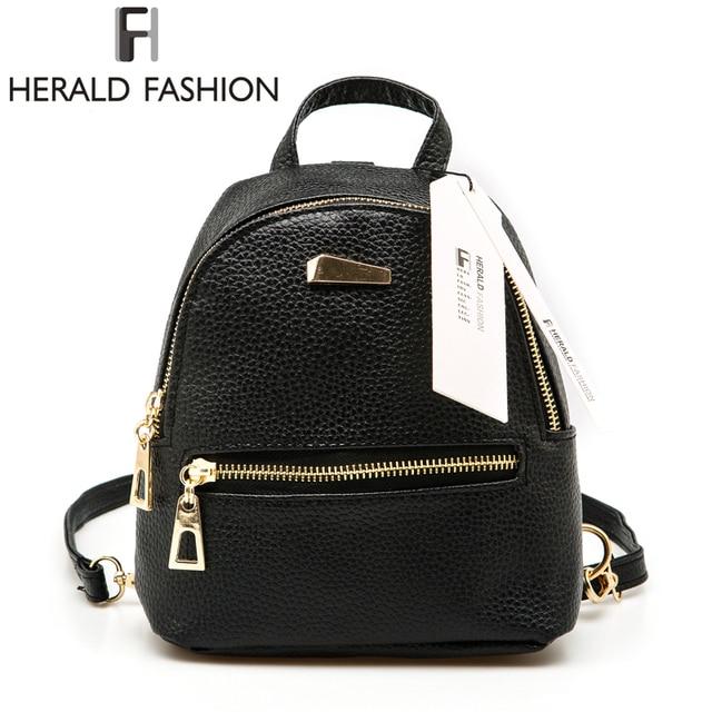 0009be8dff Herald Fashion Small Rucksack Women Shopping Purse Ladies Joker Bookbag  Travel Bag Student School Backpacks Mini Women Backpack