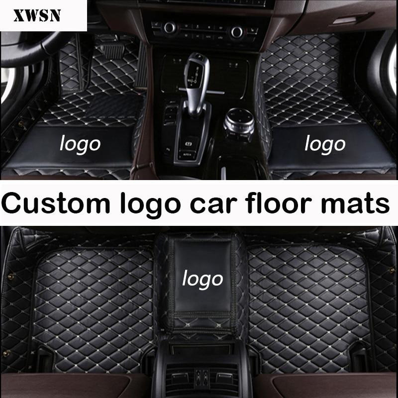 Logotipo personalizado esteiras do assoalho do carro para Mercedes Benz Todos Os Modelos A160 180 B200 c200 c300 classe E GLA GLE S500 acessórios tapetes de carro GLK