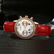 SINOBI Nouvelle Arrivée De Mode Papillon Femmes Montres Bracelet En Cuir Or Rose Mesdames Montres À Quartz Diamant De Luxe Montre-Bracelet 2016
