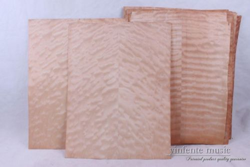 2  pcs  Beautiful Natural color pattern Maple guitar with veneer 52-54cmx41-43cmx0.5mm
