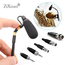 Профессиональный беспроводной саксофон микрофон Sax Mic Gooseneck сценический музыкальный конденсаторный микрофон для Sennheise