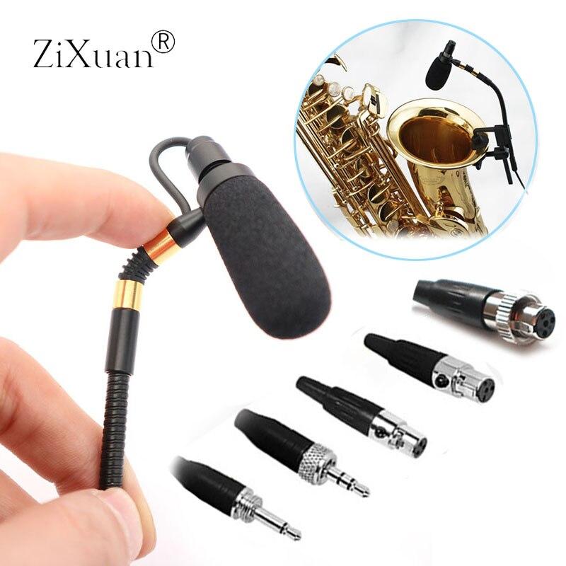 Micro Saxophone professionnel sans fil Sax micro col de cygne Performance de scène Microphone à condensateur Musical pour Sennheise