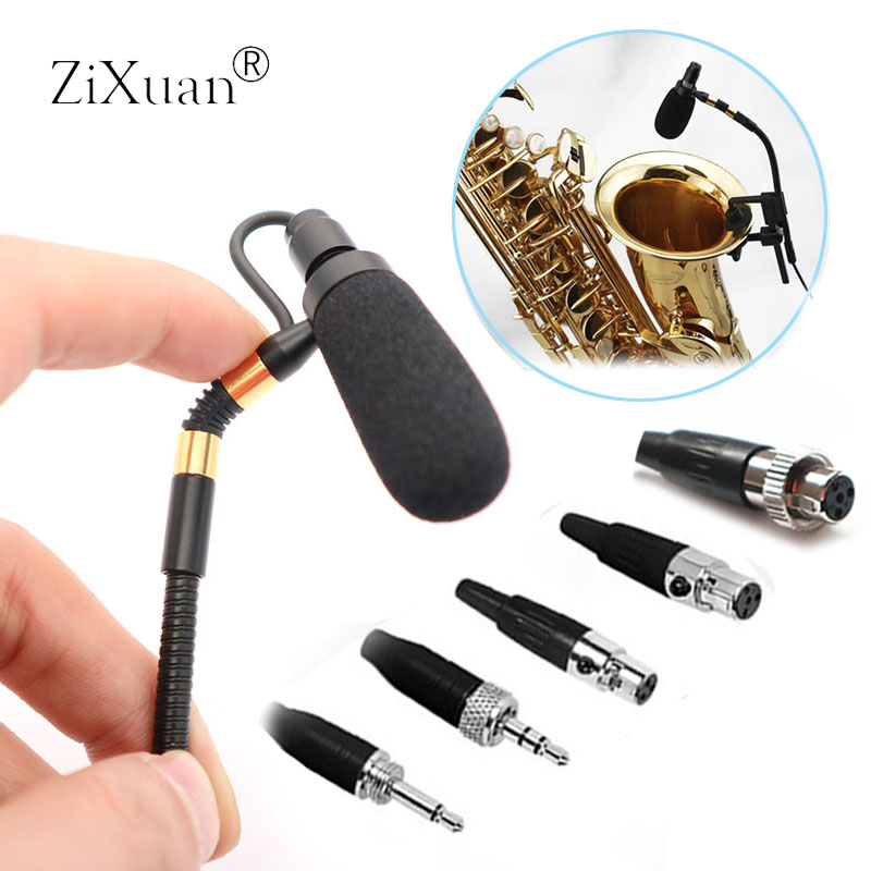 Professional Wireless Saxophone Microphone Sax Mic Gooseneck Stage Performance Musical Condenser Microphone For Sennheise