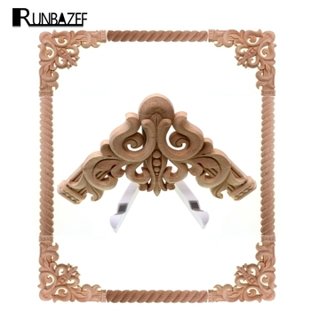 RUNBAZEF Angle of Wood Carving Flower CHARM Home Decoration Crafts Figurines Miniatures Accessories  The New Listing