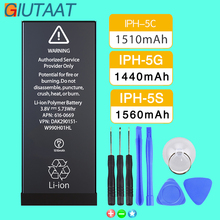 Giutaat Mobile Phone Battery for Apple iphone 5C 5G 5S Lithium Polymer Batteries Free Tools