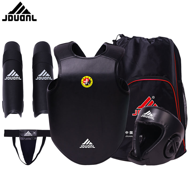 sanshou 5pcs set training equipment sanda gear chest guard martial art set wushu sanda equipment equipment
