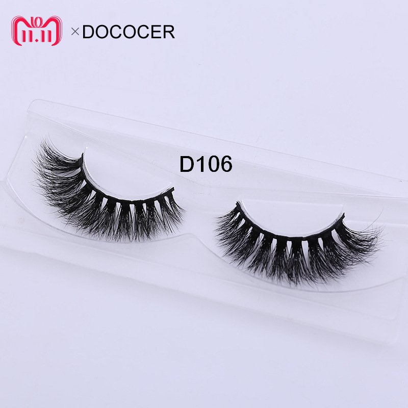 Delicious Dococer 1 Pairs Black 3d Real Mink Lashes False Eyelashes Makeup Thick Fake Eye Extention 100% Handmade Glitter Packing D106 Goods Of Every Description Are Available False Eyelashes Beauty & Health