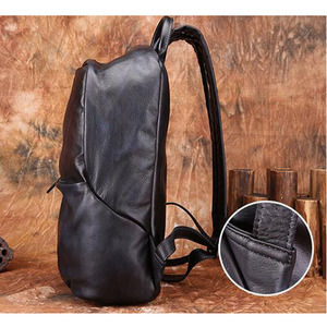 Image 3 - AETOO Backpack Mens Leather Backpack Fashion Mens Leather Bag Retro Leisure Large Capacity Travel Bag