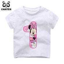 11ff70e08c 2-9 años bebé cumpleaños camiseta chica Feliz cumpleaños número 1 ~ 9th de  ratón