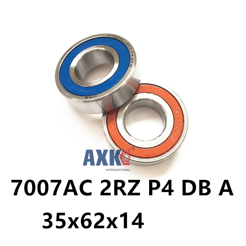 1 Pair AXK  7007 7007AC 2RZ P4 DB A 35x62x14 35x62x28 Sealed Angular Contact Bearings Speed Spindle Bearings CNC ABEC-7 1pcs 71901 71901cd p4 7901 12x24x6 mochu thin walled miniature angular contact bearings speed spindle bearings cnc abec 7