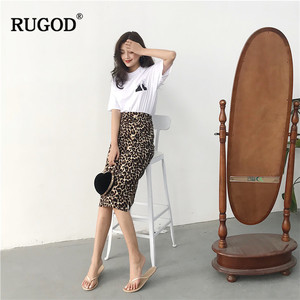 Image 5 - RUGOD Korean Sexy Leopard Print Long Skirt Women 2020 Autumn Fashion High Elastic Waist Pencil Skirt Snake Print Skirt for Lady