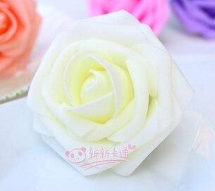 500 шт. X(6 см) один Пена розовыми цветами стволовых в 12 различных Цвета для выбора свадебные цветы.* по EMS - Цвет: ivory