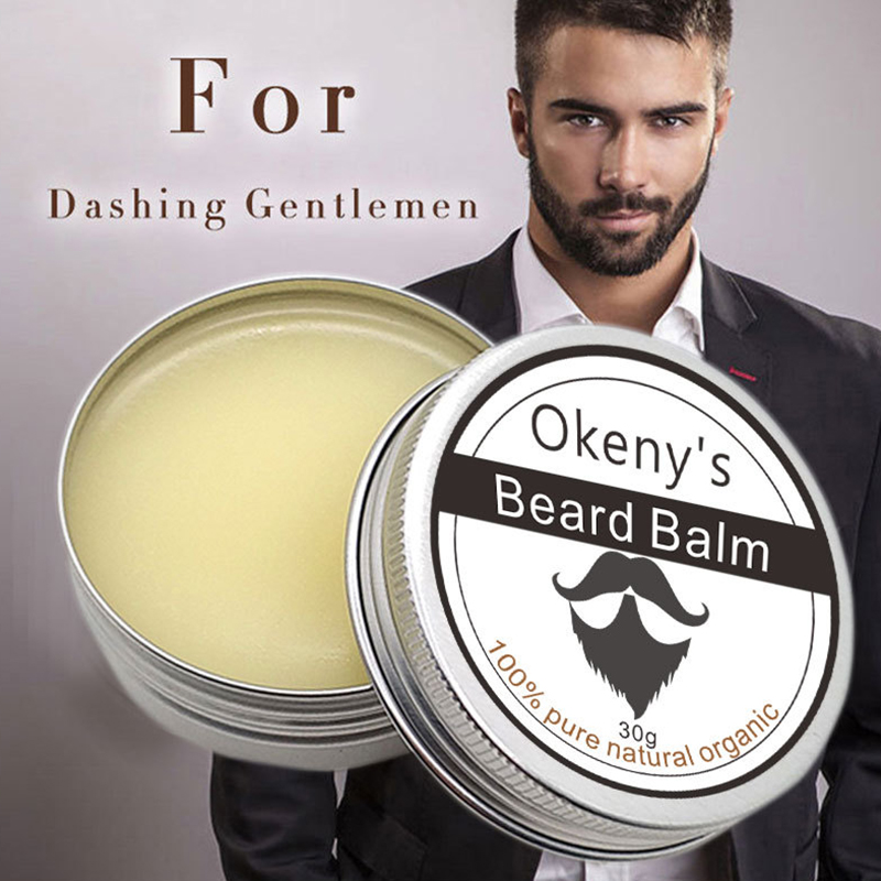 Okenys Beard Balm Beard Oil Moisturizes Beard Growth Mud Wax 100% Natural Organic Moustach