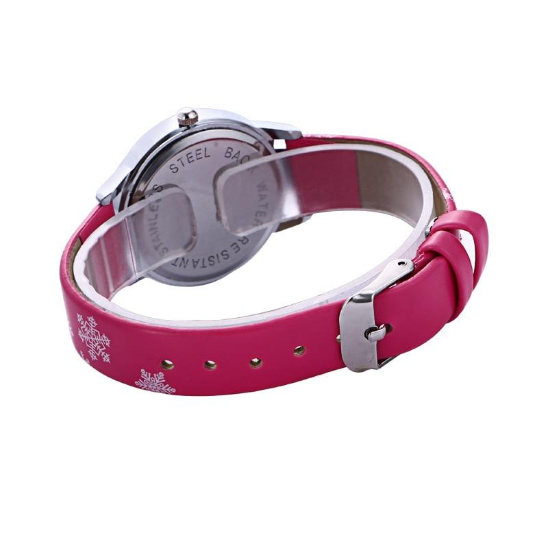 Fashion Brand Cute Kids Quartz Watch Children Girls Leather Crystal Bracelet Cartoon Wrist Watch Wristwatch Clock 8a04 #6