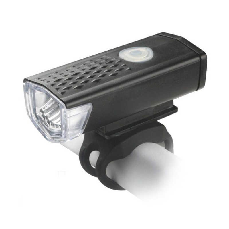 300 lumenów 3 tryby LED lampa przednia do roweru rower górski kierownica głowy lekka latarka latarnia na USB z akumulatorem Super jasne lampy