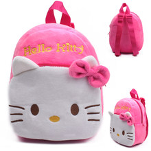 Cute cartoon kids plush school bag kindergarten Children's gifts backpack soft toy Baby kids student bags lovely Hello Kitty B(China)