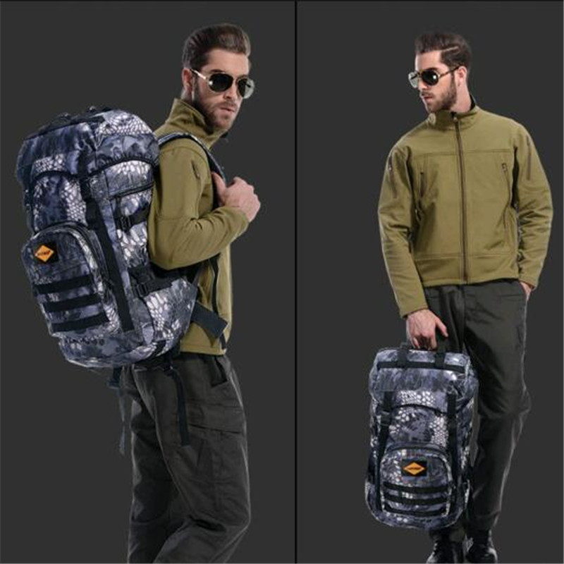 Men's bag nylon waterproof travel backpack 50 litres large capacity military camouflage high-end women 17-inch laptop bag 2017 large capacity waterproof nylon golf boston bag travel clothing bag with separate golf shoes bag embroidery logo