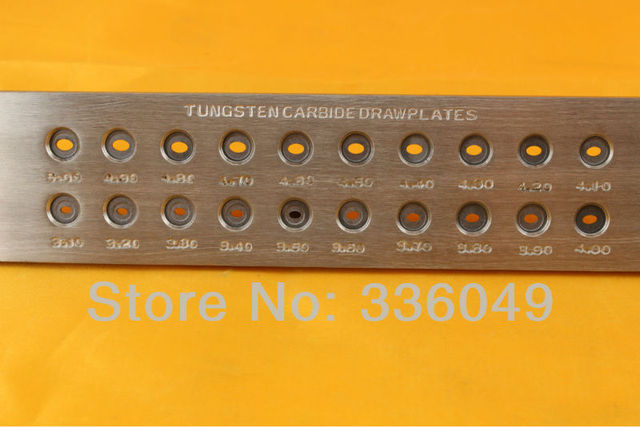 Free Shipping Jewelry Making Tools,Horse Eye Tungsten Carbide Drawplate Hole Size 1.10-300, Hole Number 20