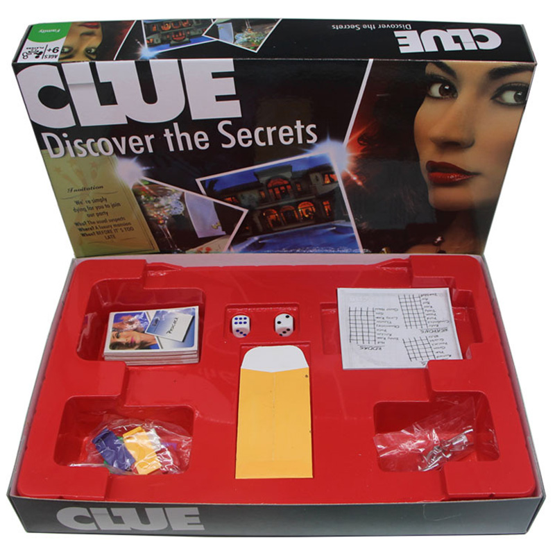 Cluedo Suspect Clue Discover The Secrets Board Desk Game Suspect Game Family Board Games With English Version Free Shipping board game risk 2nd version full english version high quality very suitable for the party and family