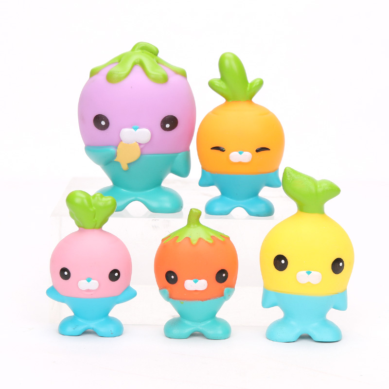 Image 2 - New 5 Pack 4.5 6cm Octonauts Toys The Vegimals PVC Action Figure Octonauts Accessories Party Supplies Seahorse Starfish Sailfish-in Action & Toy Figures from Toys & Hobbies