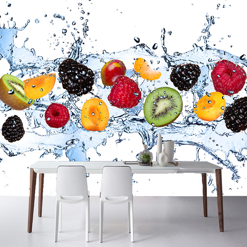 Custom Wall Painting Fresh Fruit Photo Wallpaper Restaurant Living Room Kitchen Background Wall Mural Non-woven Wallpaper Modern
