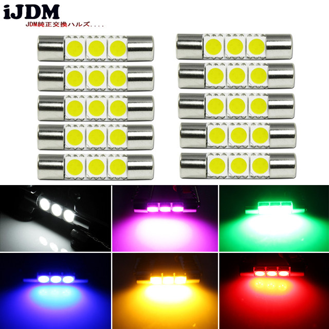iJDM Car Interior Lighting 3-SMD 29mm 6614 LED Replacement Bulbs For Car SUV Truck  sc 1 st  AliExpress.com & iJDM Car Interior Lighting 3 SMD 29mm 6614 LED Replacement Bulbs For ...