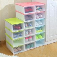 2017 New Flip Transparent Bhoe Box Men And Women Hard Plastic Storage Box Finishing Storage Shoes Box Thickened Shoe Organizer