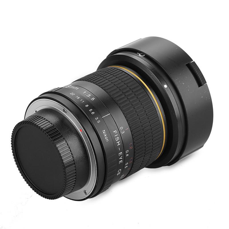 Lightdow 8mm F/3.5 Ultra Wide Angle Fisheye Lens for Nikon DSLR Camera D3100 D30 D50 D5500 D7000 D70 D800 D700 D90 D7100 2
