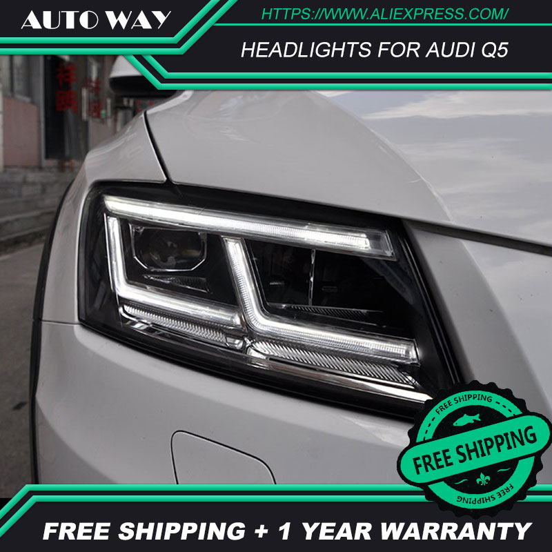Car Styling H7 Head Lamp case for Audi Q5 2009 2018 Headlights case for Audi Q5 LED Headlight DRL Lens Double Beam Bi Xenon