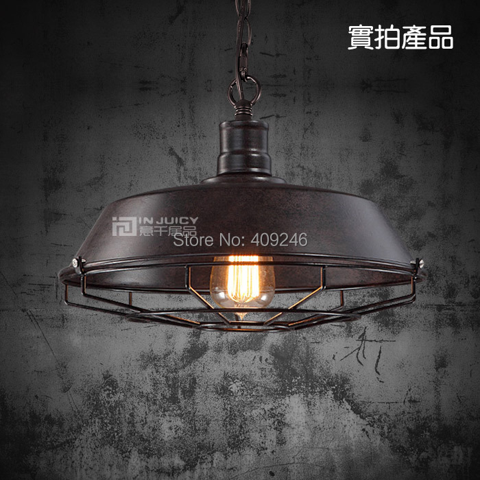 ФОТО 3PCS/LOT 36CM Grid Edison RH Loft restaurant bar industrial Iron cover  pendant Black Droplight Ceiling Lamp