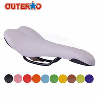 Outerdo Hot Sale Fixed Gear Bike Saddle Bicycle Cushion Multicolor Leather Seat Outdoor Sports Cycling Riding