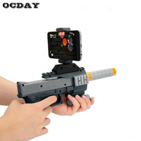 Hot! OCDAY 3D AR-Gun Games Toy Gun Portable VR Game Gun Toy for Android iPhone Phones Indoor Outdoor Toys For Children