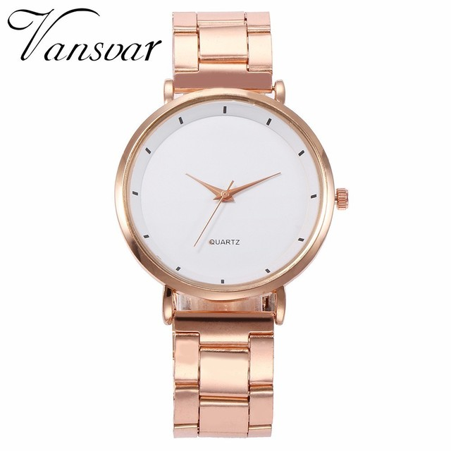 Hot Fashion Women Simple Wrist Watch Luxury Casual Rose Gold Steel Colorful Dial