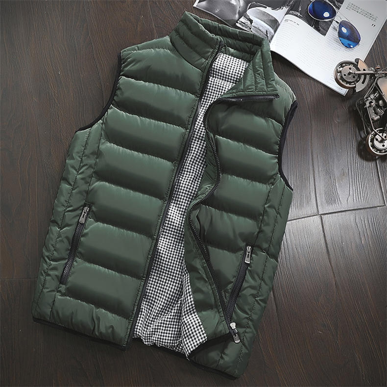 Vest Men 2019 Spring Autumn Male Sleeveless Jacket Coat Lovers Stylish Padded Down Vest Men Waistcoat Brand Cloths Plus Size 5XL 14
