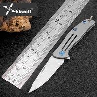 Sharp Titanium Handle D2 Steel Blade Tactical Folding Knife Survival Camping Hunting Knives Key Pocket Knife