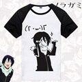 Hot Anime Yato Noragami T Shirt T-shirt Respirabilidade Aragoto Kami Cosplay Algodão de Manga Curta T