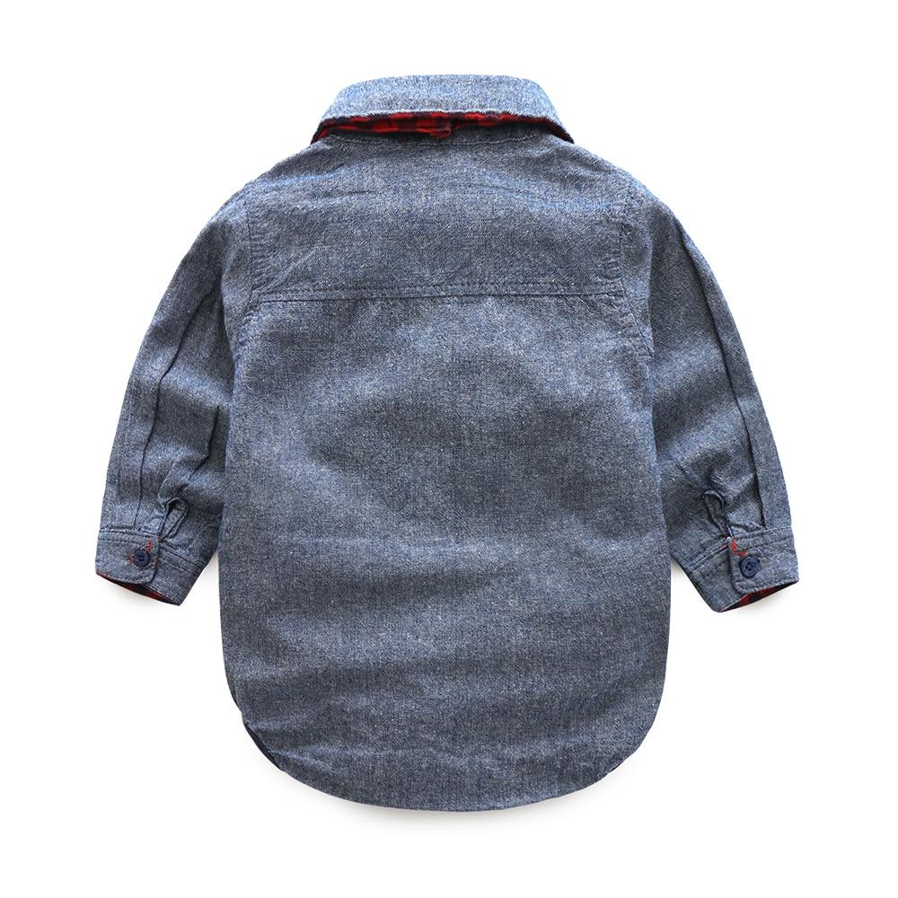 2016 jesień baby boy girl clothes Bluzy z długim rękawem koszule + - Odzież dla niemowląt - Zdjęcie 4