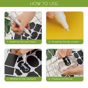 Image 3 - Étiquettes autocollantes pour pots de cuisine, étiquettes autocollantes pour le rangement, étiquettes pour tableau noir, épices, décalcomanies pour tableau noir, 48 pièces