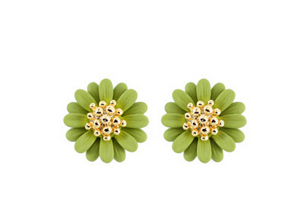 High Quality New Brand Gold Plated Bohemia Vintage Daisy Flower Summer Jewelry Stud Earring For Women Pendientes mujer E681