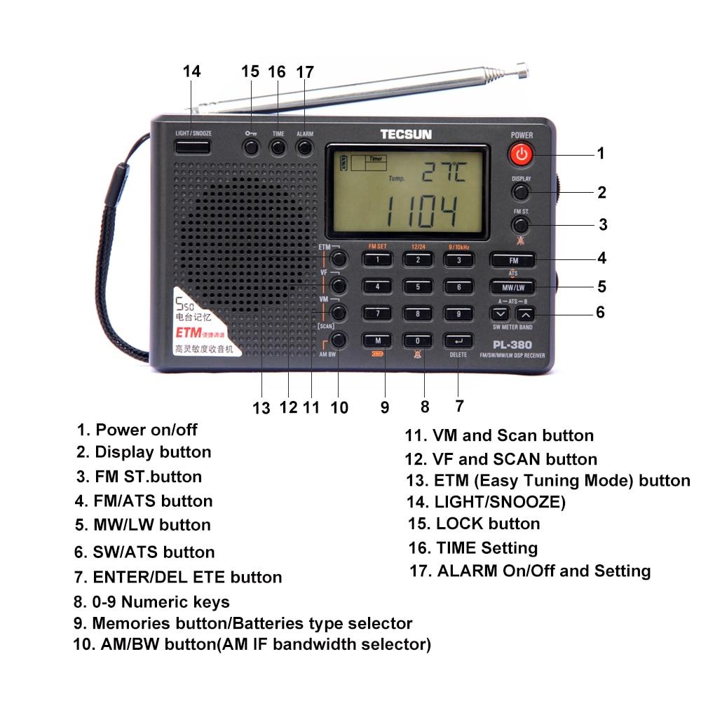 Tecsun PL-380 PL380 raadio Digitaalne PLL Kaasaskantav raadio FM - Kaasaskantav audio ja video - Foto 2