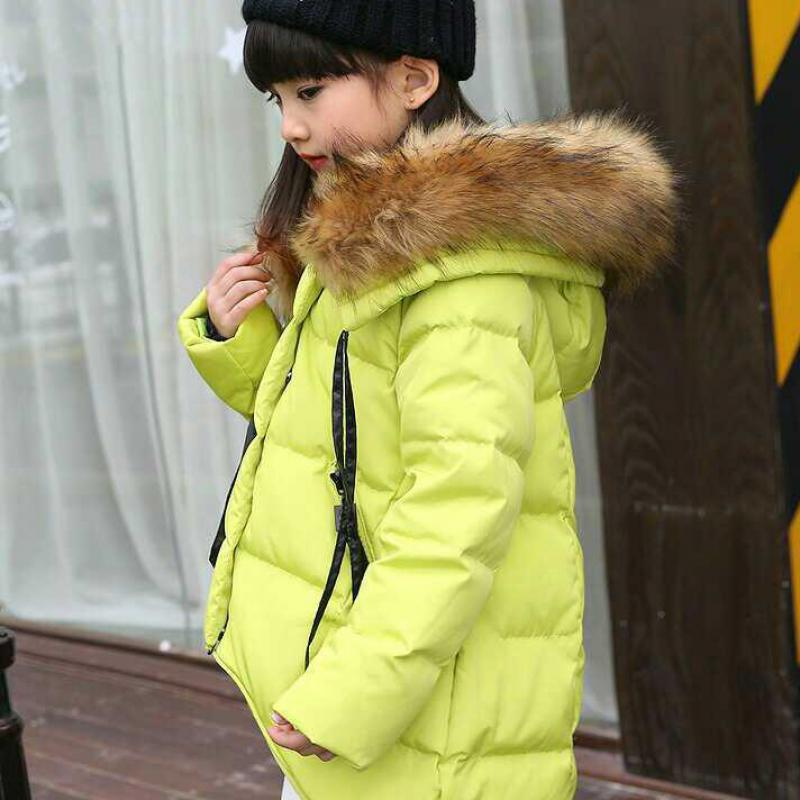 Fashion Girls Winter Coat Down Jacket For Girl Warm Parkas Children Hooded Outerwear Teenage Winter Jackets 6 8 9 10 12 14 Years christmas cotton padded parkas teen winter coat girl long red pink black hooded warm winter jacket for girl 6 years 8 10 12 14
