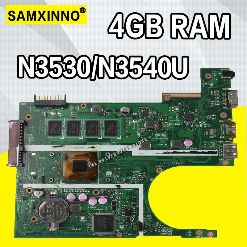 N3540 X200MA motherboard REV2.1 For ASUS K200MA F200MA X200MA X200M Laptop Mainboard 100% tested intact N3530/N3540U 4GB RAMN3540 X200MA motherboard REV2.1 For ASUS K200MA F200MA X200MA X200M Laptop Mainboard 100% tested intact N3530/N3540U 4GB RAM