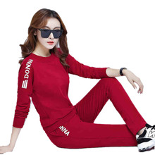 Women Clothing Fall And Winter Leisure Sliod Color Casual Suit Ms. Plus Thick Velvet Two-pieces Large Size Loose Hooded Sets bl2
