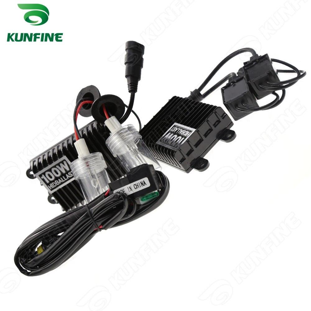 12 V/100 W xénon phare H4-2 HID Conversion xénon Kit voiture caché lumière avec ballast AC pour véhicule phare