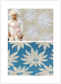Hot Sale french lace 5yards/lot cheap african white lace fabric high quality african tulle lace fabric