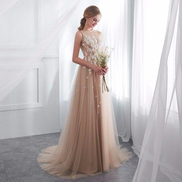 ruthshen Vestidos De Gala Largos Sleeveless Prom Dresses Long Floor Length Party Gowns Elegant Robes De Soiree Formal Prom Dress 6