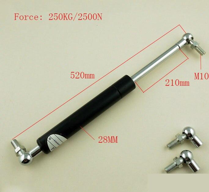 110mm Stroke 60kg/600n Force Auto Gas Spring Damper Ball Gas Strut Shock Spring Lift Prop Automotive M8 Gas Spring 300mm