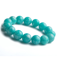 Top Natural Green Amazonite Mozambique Women Men Stretch Healing Round Beads 13mm Bracelet Gemstone Fashion Best Jewelry AAAA
