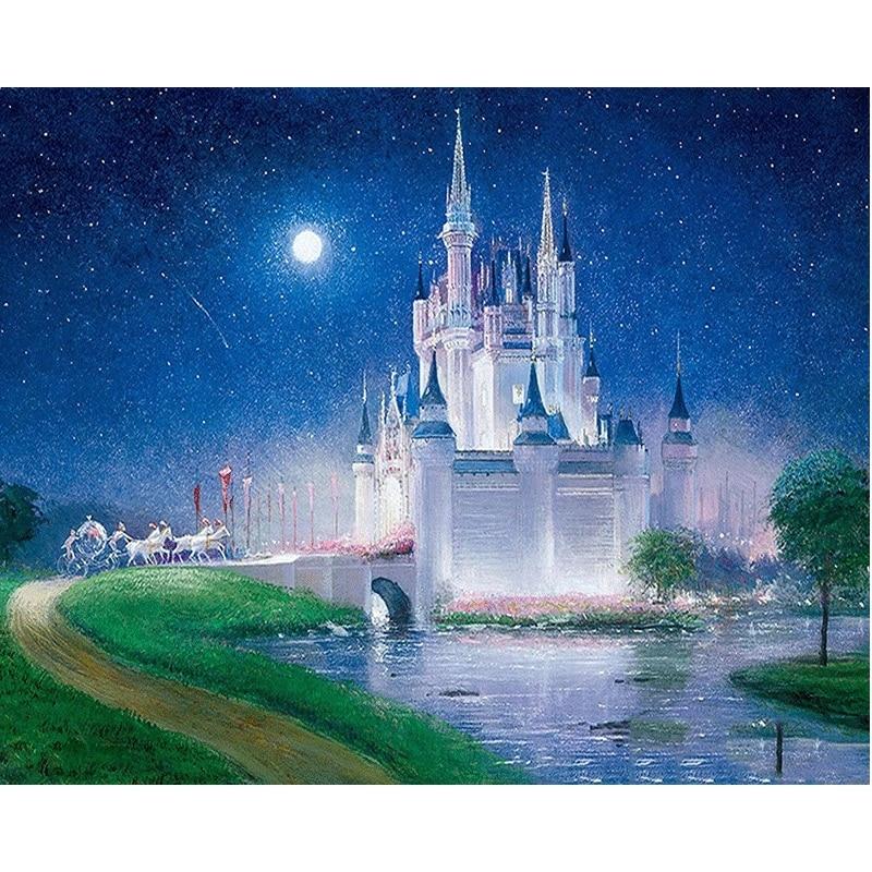 Diamond Painting Full drill Moonlight carriage Mosaic DIY Diamond Painting Cross Stitch Embroidery Home Decorative Craft